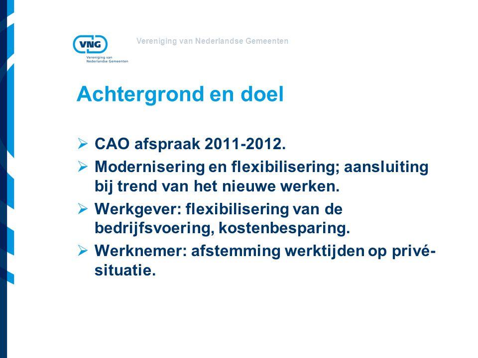 Achtergrond en doel CAO afspraak 2011-2012.