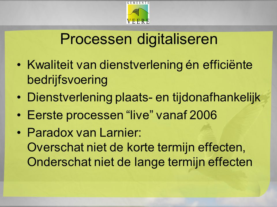 Processen digitaliseren