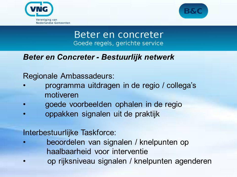 Beter en Concreter - Bestuurlijk netwerk