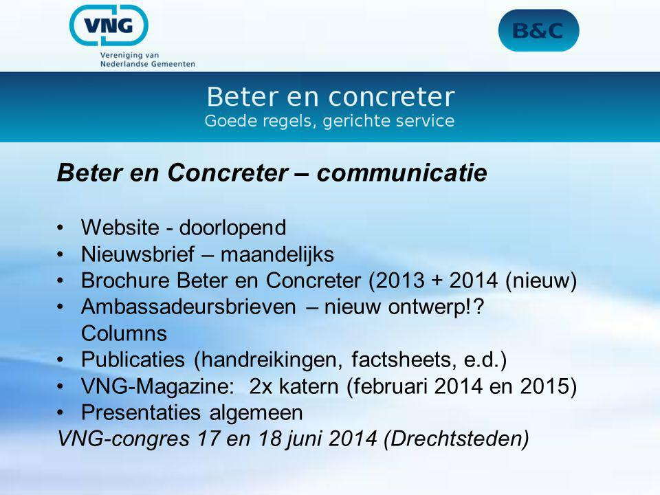 Beter en Concreter – communicatie