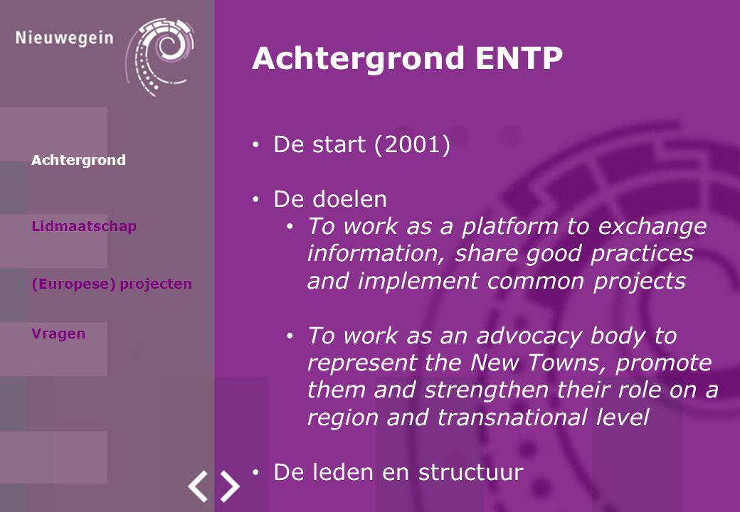 Achtergrond ENTP De start (2001) De doelen