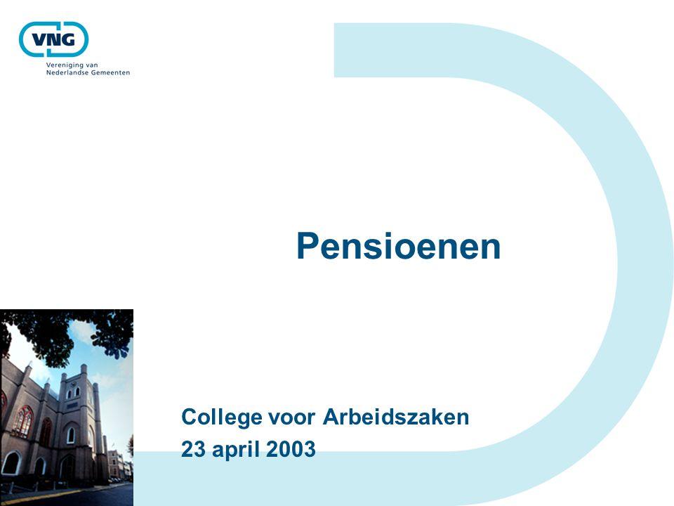College voor Arbeidszaken 23 april 2003