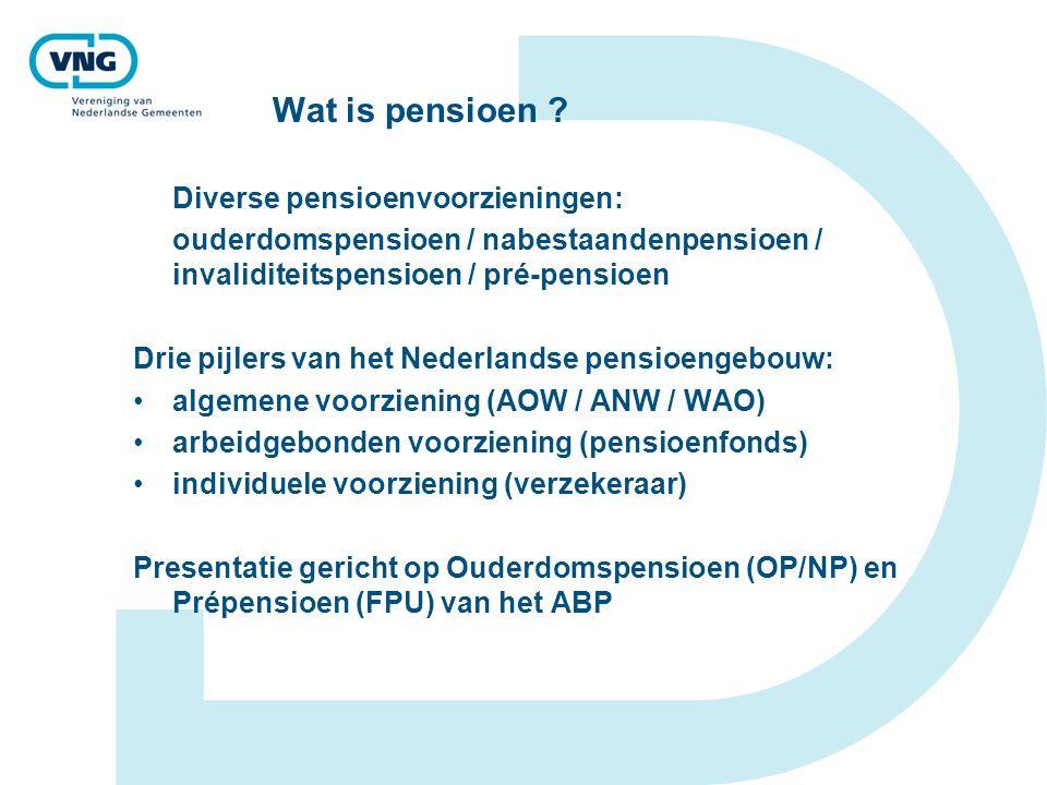 Wat is pensioen Diverse pensioenvoorzieningen: