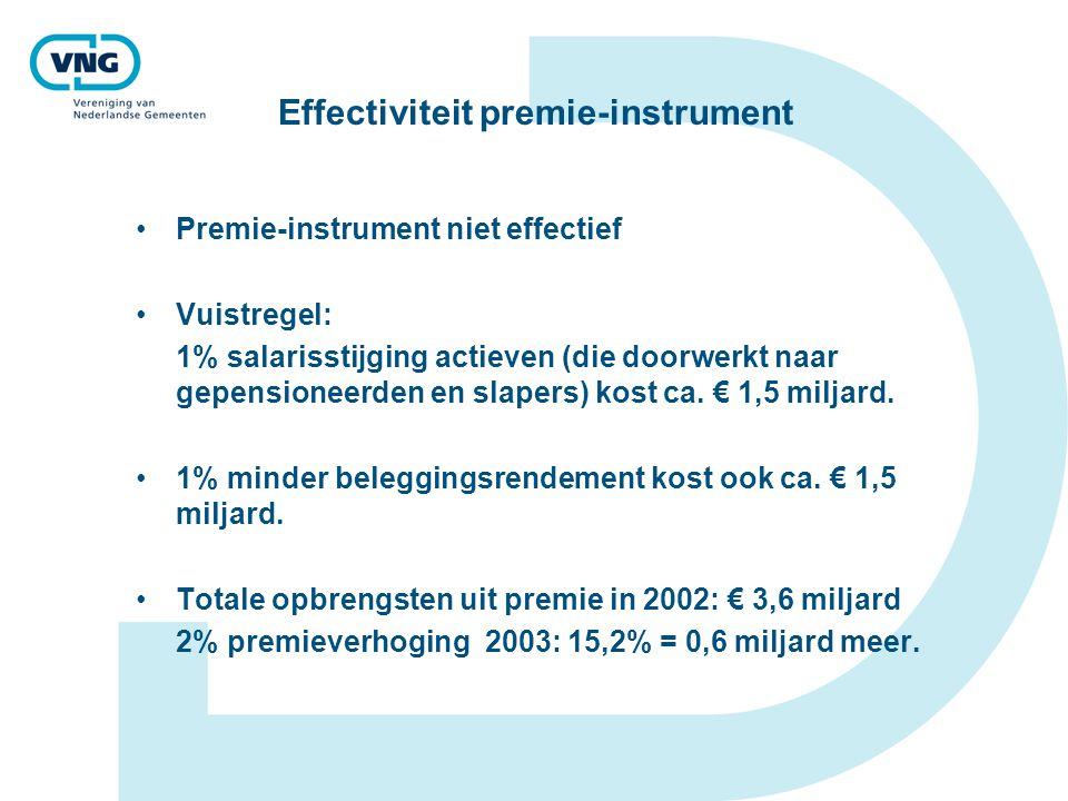 Effectiviteit premie-instrument