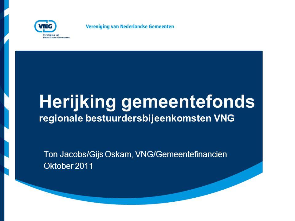 Herijking gemeentefonds regionale bestuurdersbijeenkomsten VNG