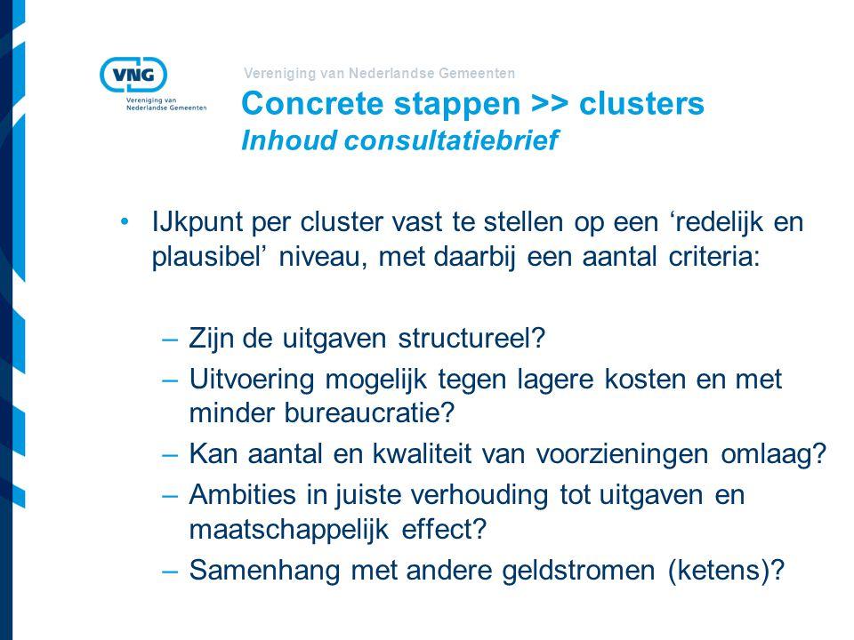 Concrete stappen >> clusters Inhoud consultatiebrief
