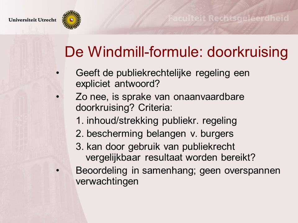 De Windmill-formule: doorkruising