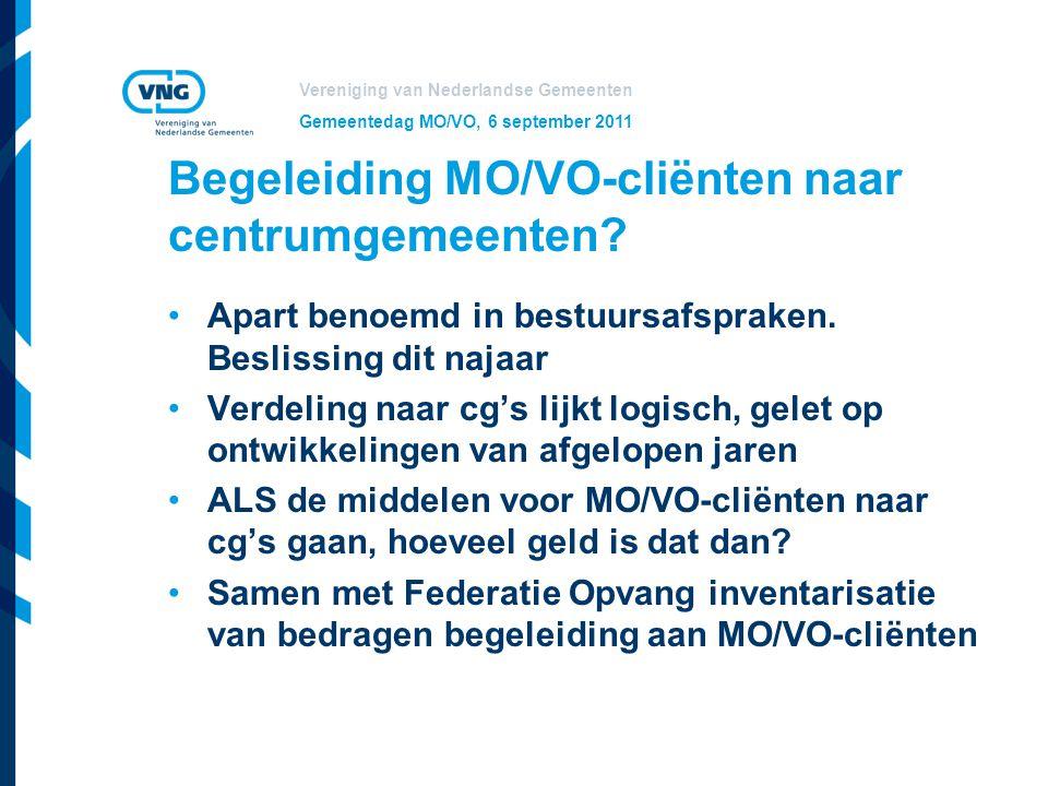 Begeleiding MO/VO-cliënten naar centrumgemeenten