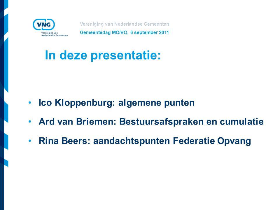 In deze presentatie: Ico Kloppenburg: algemene punten