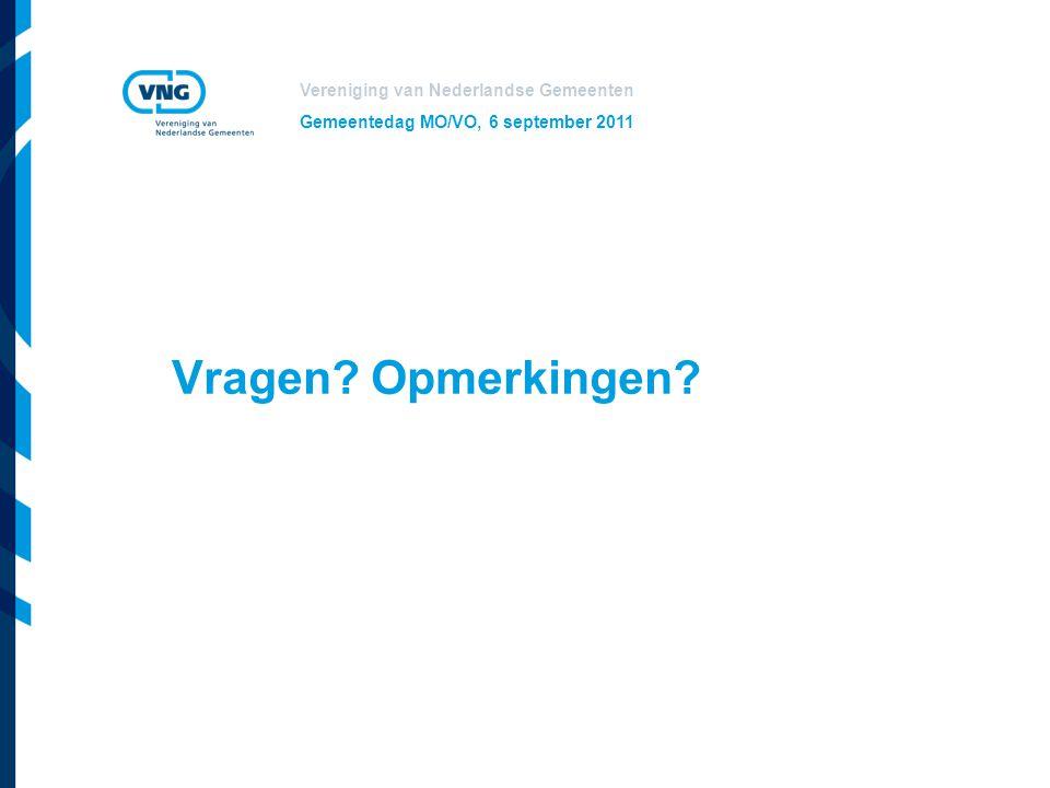Gemeentedag MO/VO, 6 september 2011