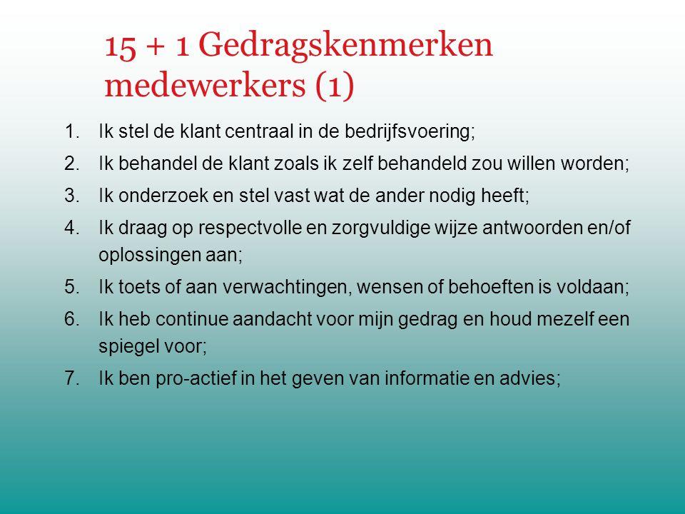15 + 1 Gedragskenmerken medewerkers (1)