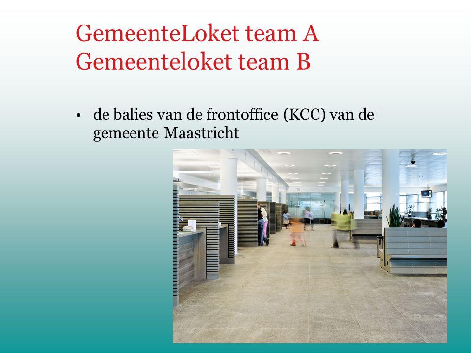 GemeenteLoket team A Gemeenteloket team B