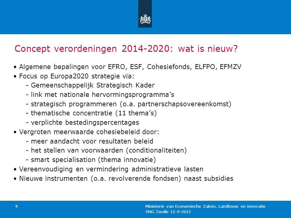 Concept verordeningen 2014-2020: wat is nieuw