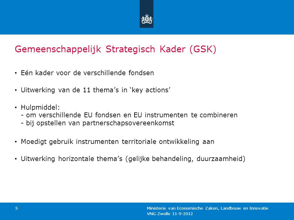 Gemeenschappelijk Strategisch Kader (GSK)