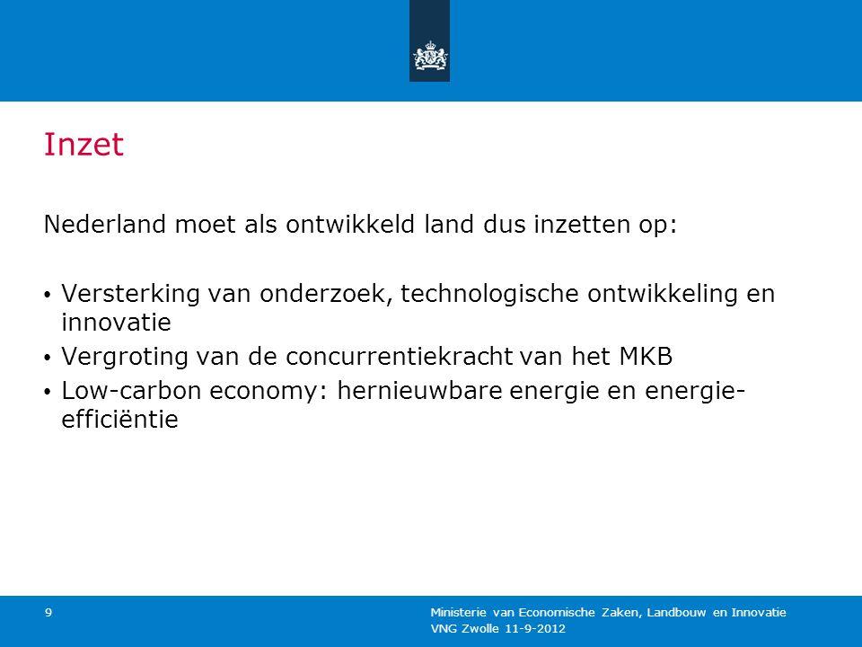 Inzet Nederland moet als ontwikkeld land dus inzetten op: