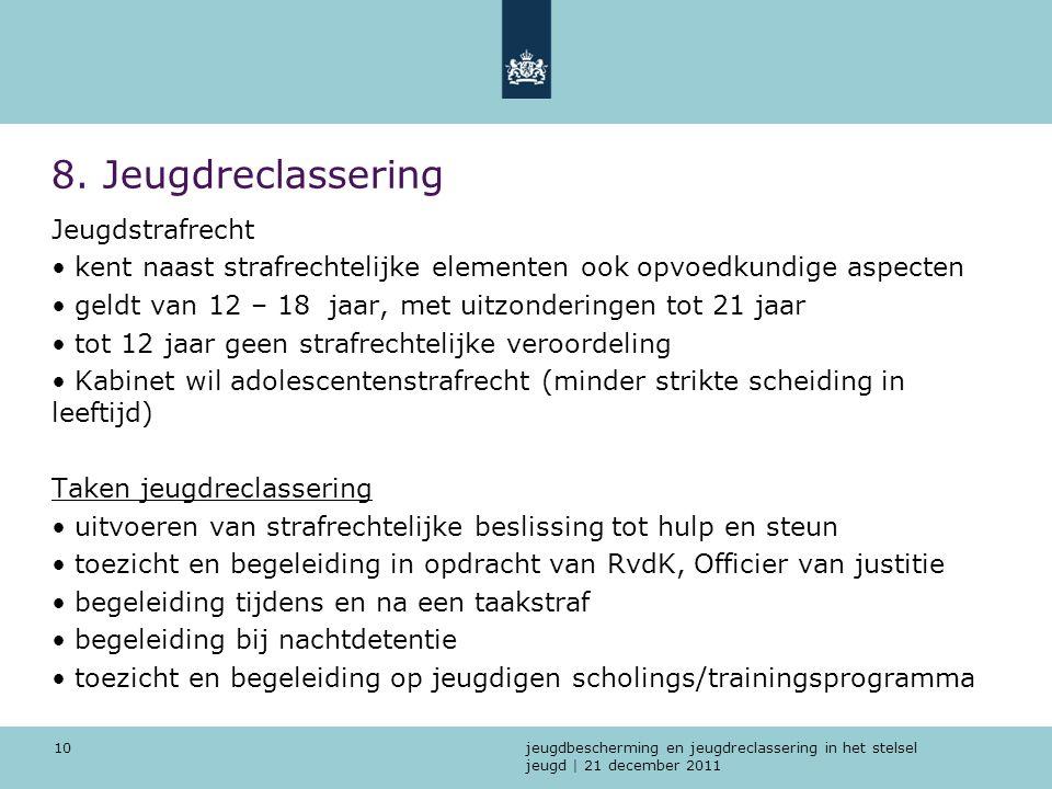 8. Jeugdreclassering Jeugdstrafrecht