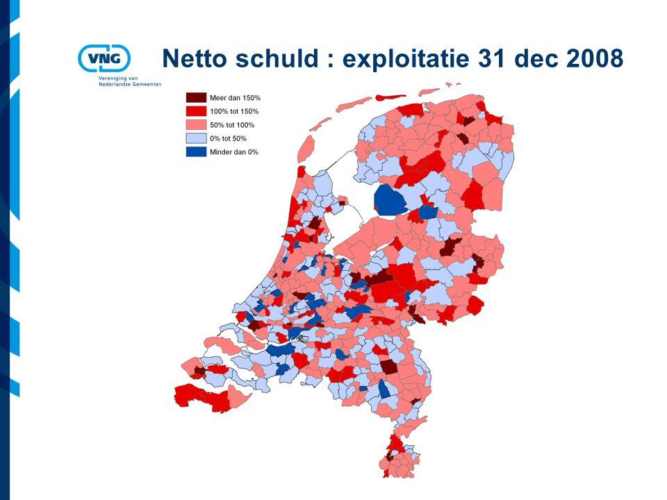Netto schuld : exploitatie 31 dec 2008