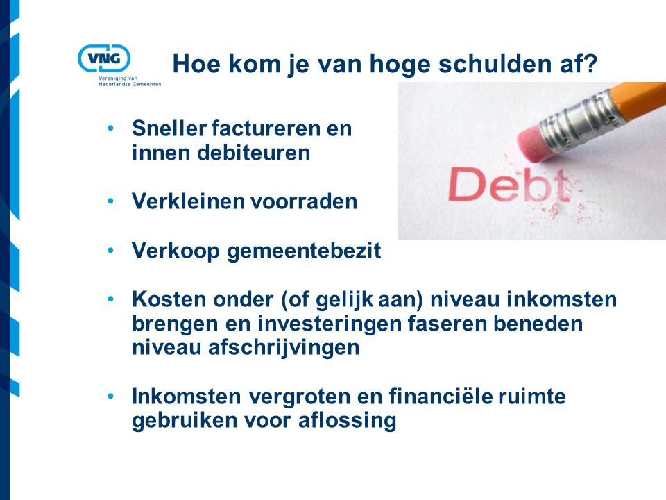 Hoe kom je van hoge schulden af