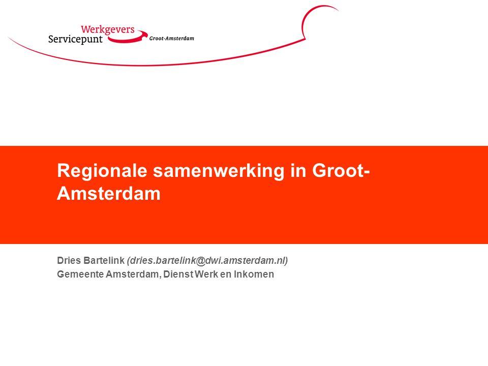 Regionale samenwerking in Groot-Amsterdam