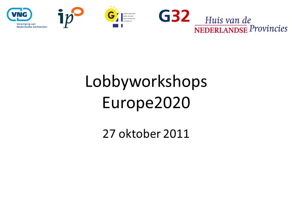 Lobbyworkshops Europe2020