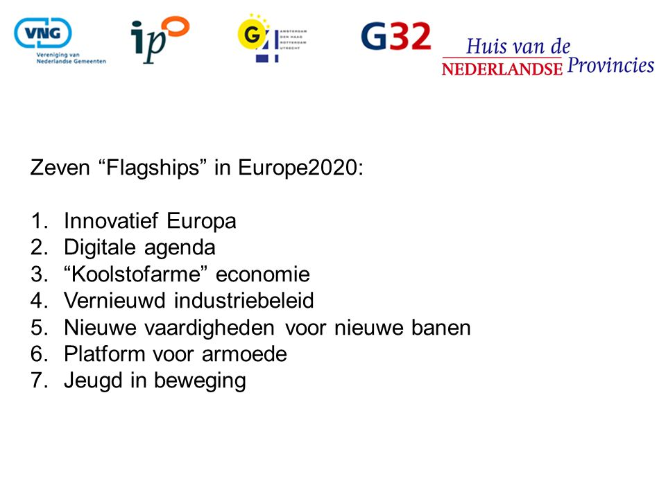 Zeven Flagships in Europe2020: