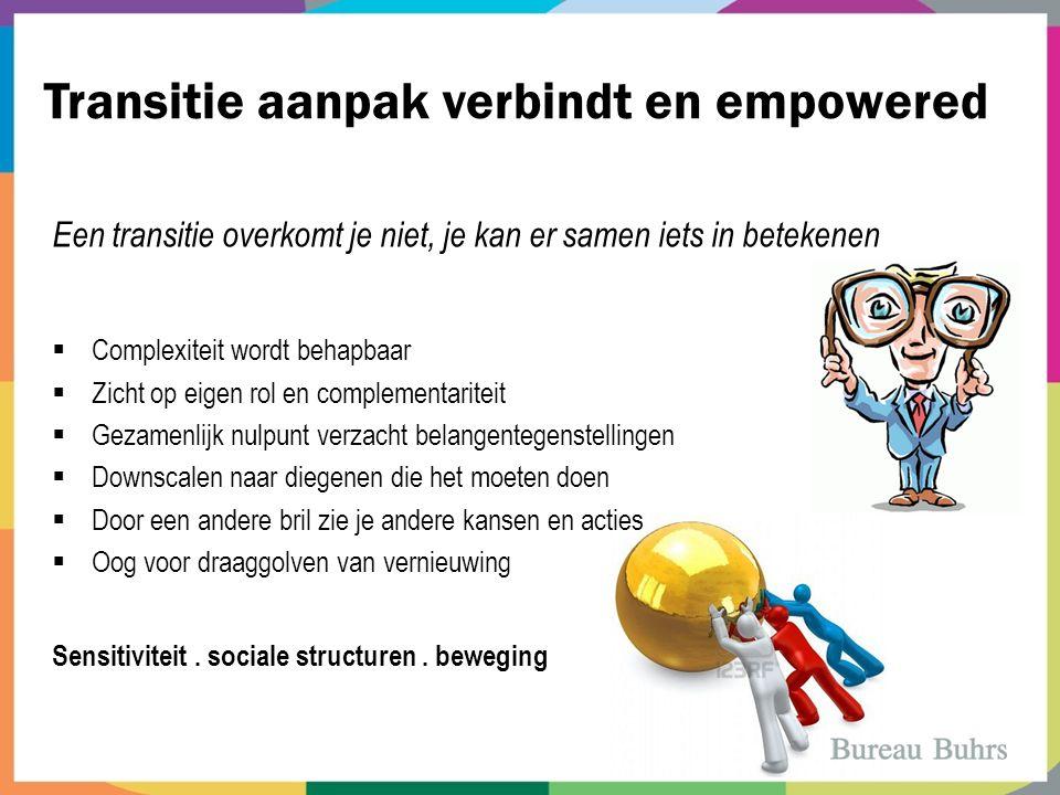 Transitie aanpak verbindt en empowered