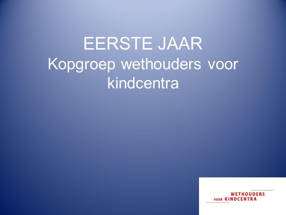 EERSTE JAAR Kopgroep wethouders voor kindcentra