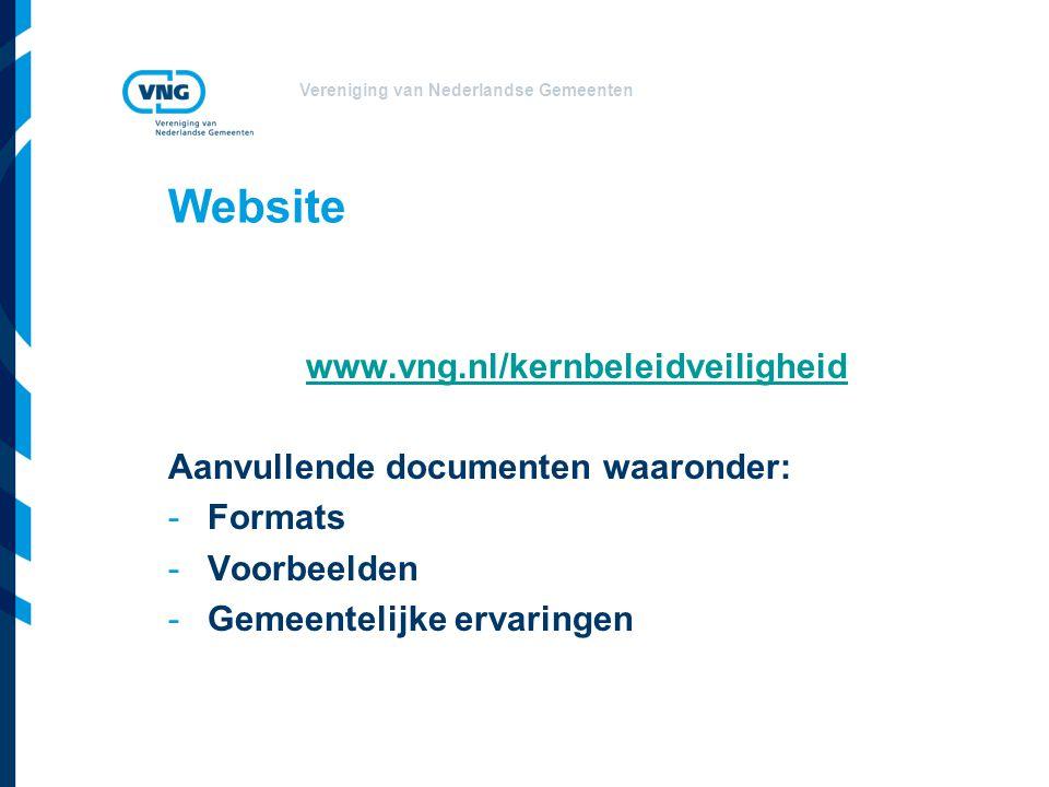 Website www.vng.nl/kernbeleidveiligheid