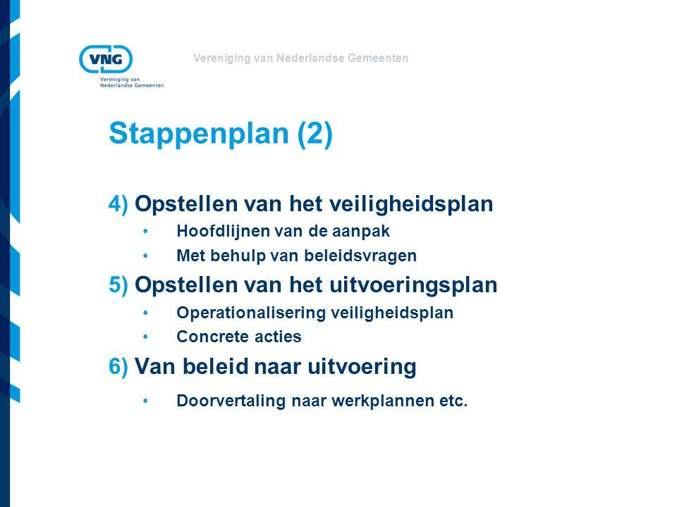 Stappenplan (2) 4) Opstellen van het veiligheidsplan
