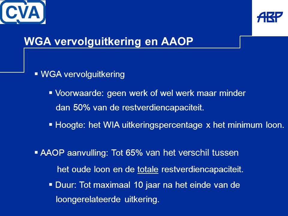 WGA vervolguitkering en AAOP