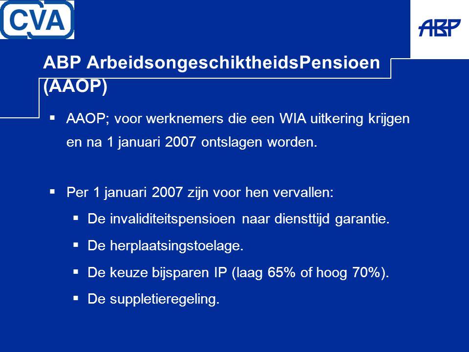 ABP ArbeidsongeschiktheidsPensioen (AAOP)