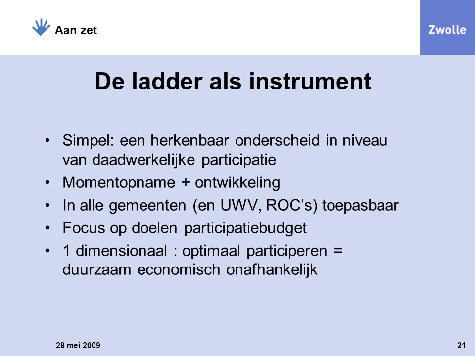 De ladder als instrument