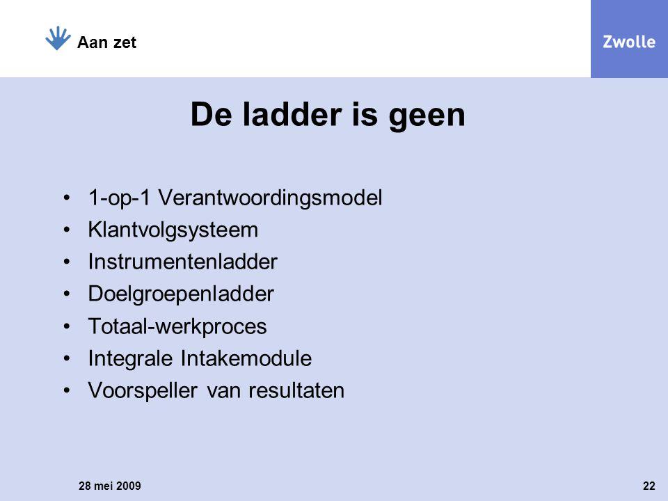 De ladder is geen 1-op-1 verantwoordingsmodel