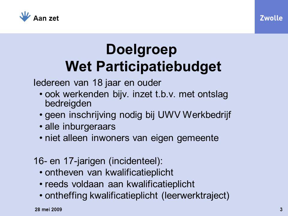 Doelgroep Wet Participatiebudget