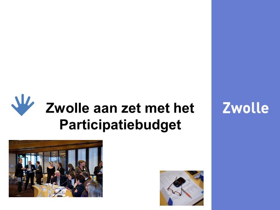 Zwolle aan zet met het Participatiebudget