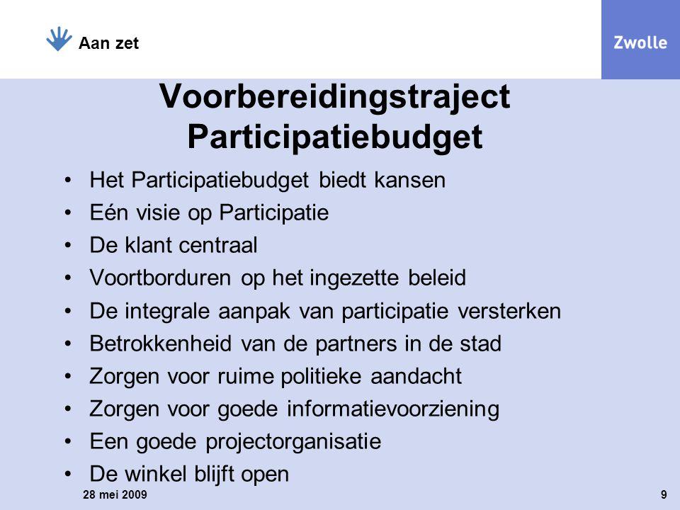 Voorbereidingstraject Participatiebudget