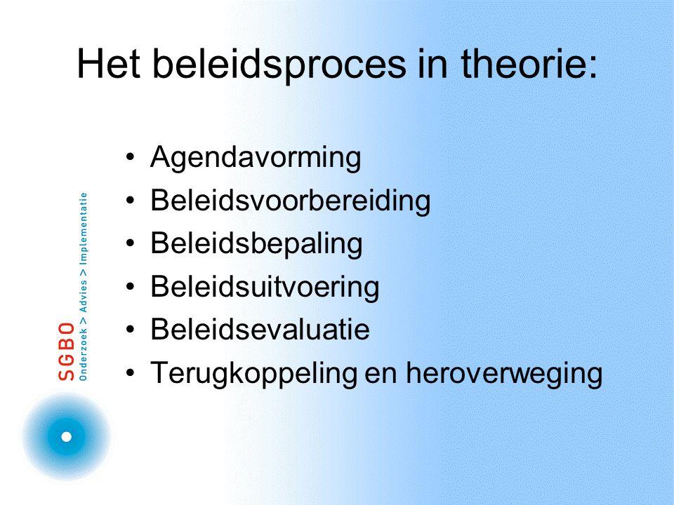 Het beleidsproces in theorie: