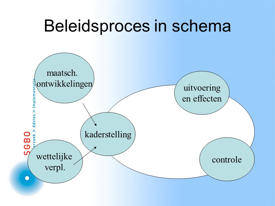 Beleidsproces in schema