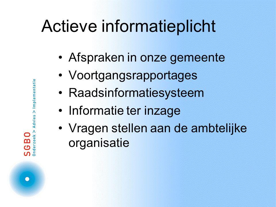 Actieve informatieplicht