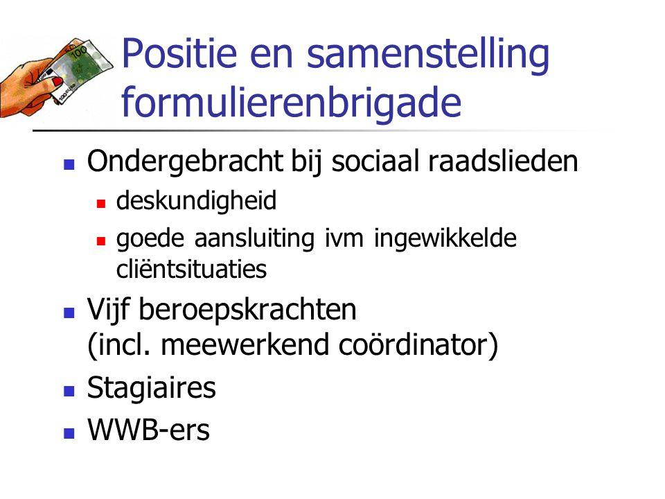 Positie en samenstelling formulierenbrigade