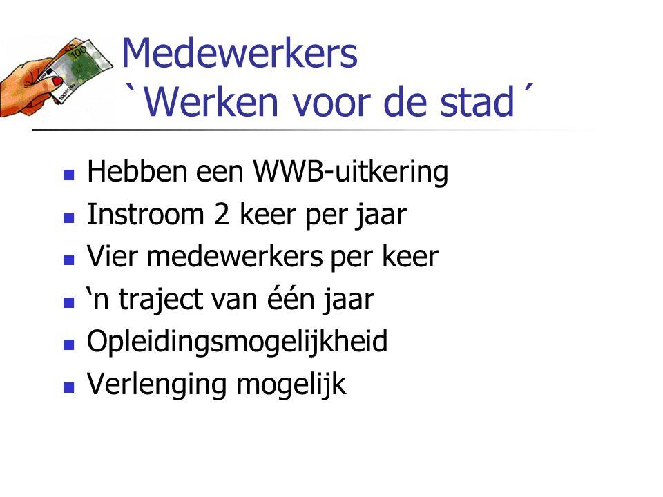 Medewerkers `Werken voor de stad´