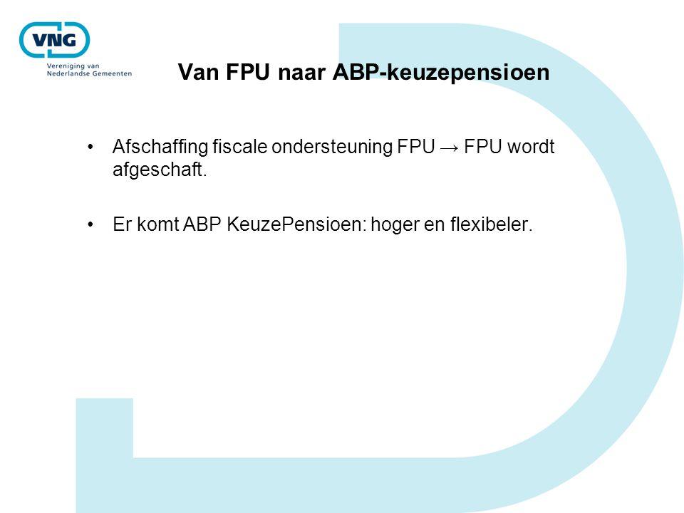 Van FPU naar ABP-keuzepensioen