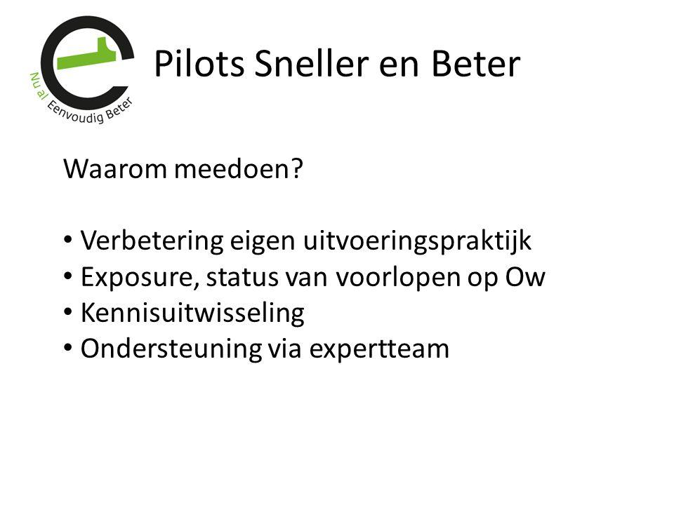 Pilots Sneller en Beter