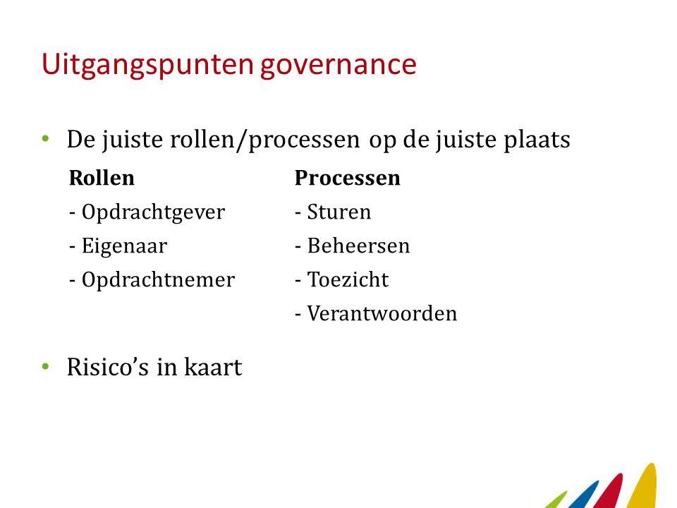 Uitgangspunten governance