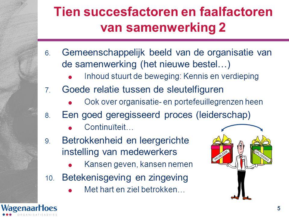 Tien succesfactoren en faalfactoren van samenwerking 2