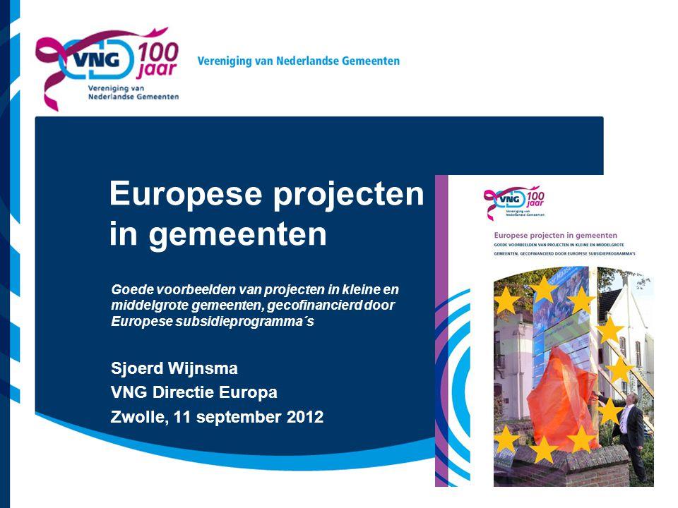 Europese projecten in gemeenten