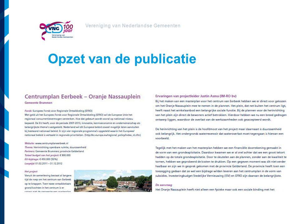 Opzet van de publicatie