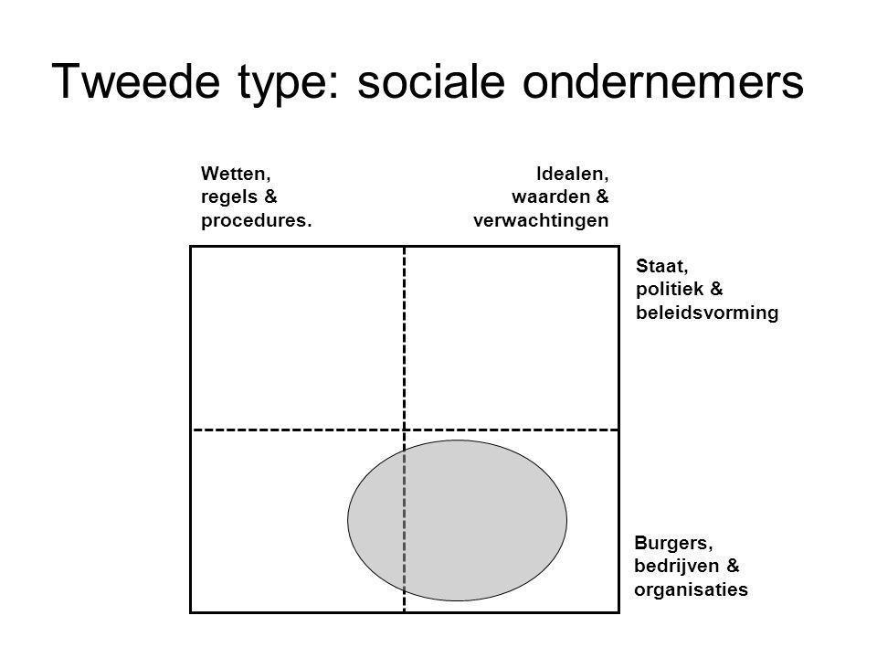 Tweede type: sociale ondernemers