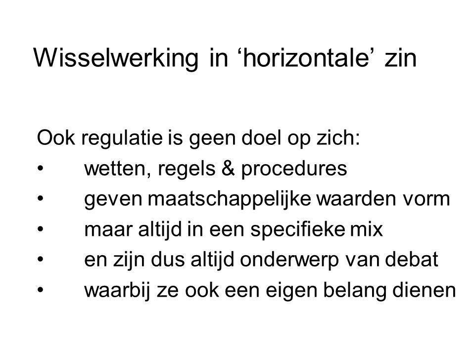 Wisselwerking in 'horizontale' zin