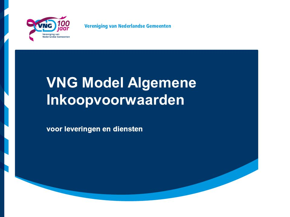 VNG Model Algemene Inkoopvoorwaarden
